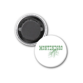 Montenegro Roots Green Word Art Magnet