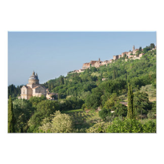 Montepulciano cathedral and town photo print
