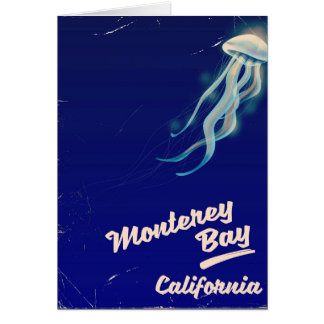 Monterey Bay California Jelly vintage travel Card