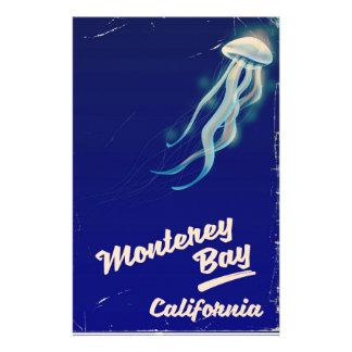 Monterey Bay California Jelly vintage travel Stationery
