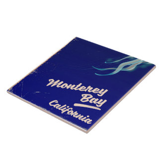 Monterey Bay California Jelly vintage travel Tile