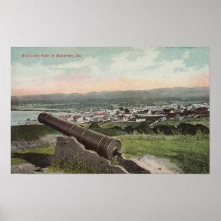 Monterey CA - Bird s Eye View of Monterey Print