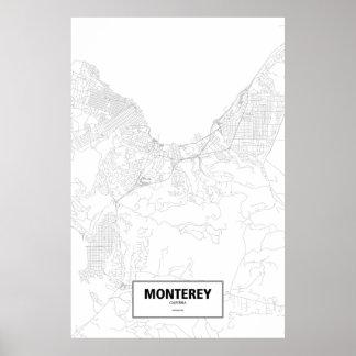 Monterey, California (black on white) Poster