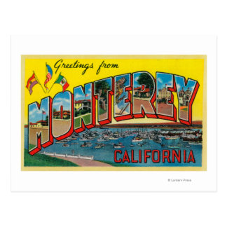 Monterey, California - Large Letter Scenes Post Cards