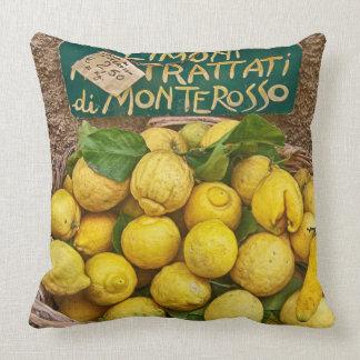 Monterosso Lemons Cotton Throw Pillow