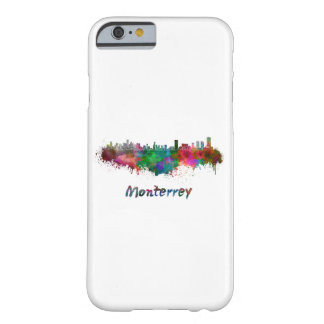 Monterrey skyline in watercolor barely there iPhone 6 case