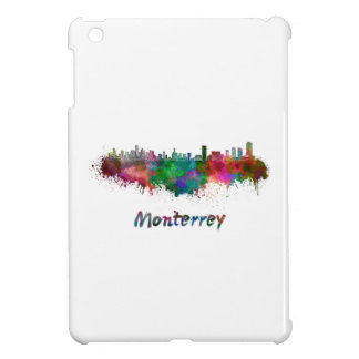 Monterrey skyline in watercolor cover for the iPad mini