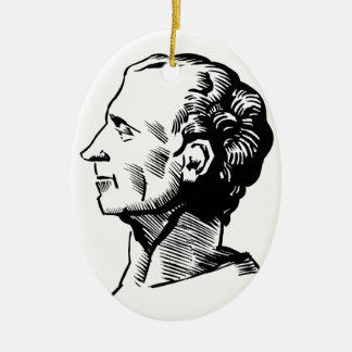 Montesquieu Ceramic Oval Decoration