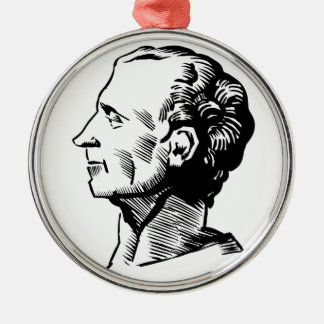 Montesquieu Silver-Colored Round Decoration