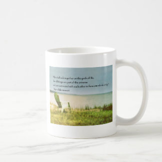 montessori beach scene quote coffee mug
