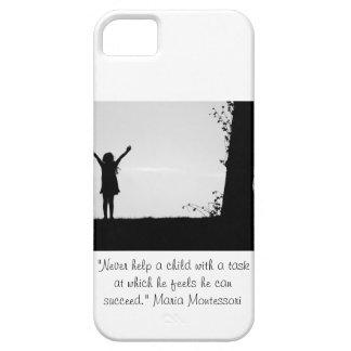 Montessori quote helping children case for the iPhone 5