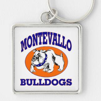 Montevallo Bulldogs Square Keychain