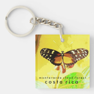 Monteverde Cloud Forest, Costa Rica Butterfly Key Ring