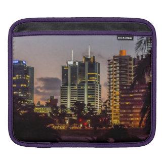 Montevideo Cityscape Scene at Twilight iPad Sleeves