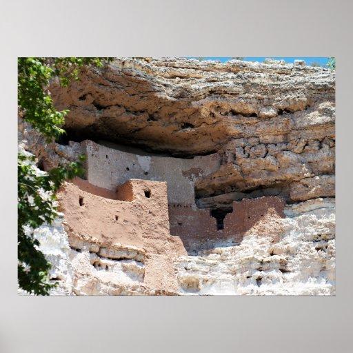 Montezuma Castle Cliff Dwelling - NM Landmark Posters