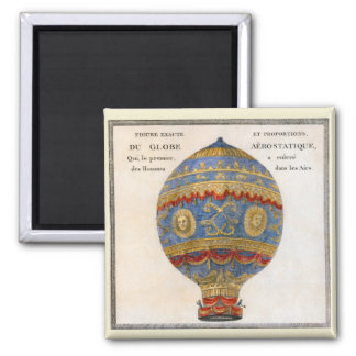 Montgolfier Brothers Hot Air Balloon Magnet