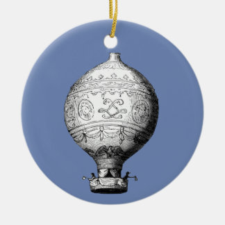 Montgolfier Vintage Hot Air Balloon Ceramic Ornament