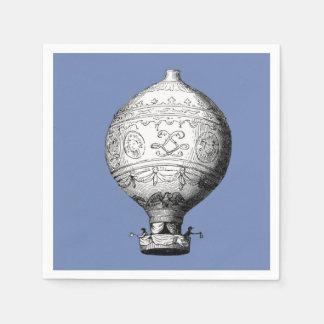 Montgolfier Vintage Hot Air Balloon Paper Napkins
