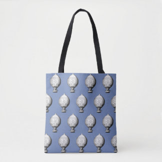 Montgolfier Vintage Hot Air Balloon Pattern Tote Bag