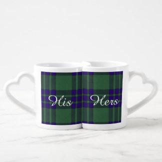 Montgomerie clan Plaid Scottish tartan Couples Mug