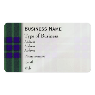 Montgomerie clan Plaid Scottish tartan Pack Of Standard Business Cards