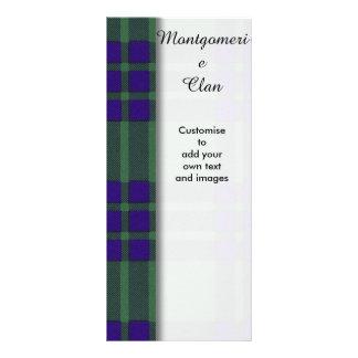 Montgomerie clan Plaid Scottish tartan Rack Cards