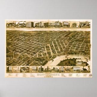 Montgomery Alabama 1887 Poster