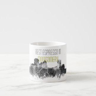 MONTGOMERY, ALABAMA SKYLINE - Espresso mug