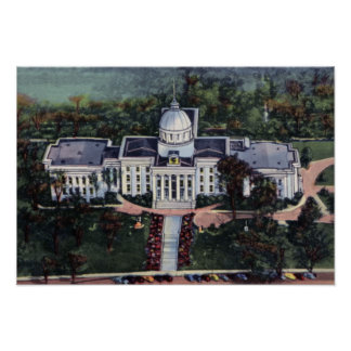 Montgomery Alabama State Capitol Poster