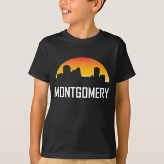 Montgomery Alabama Sunset Skyline T-Shirt