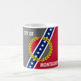 Montgomery city Alabama flag united states america Basic White Mug
