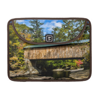 Montgomery Covered Bridge with fall foliage Sleeves For MacBook Pro