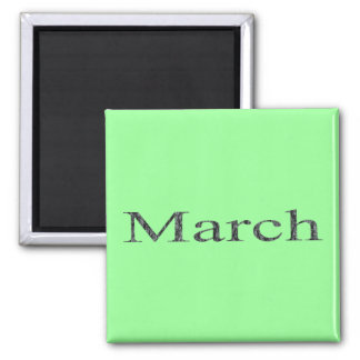 Months of the Year - March Square Magnet