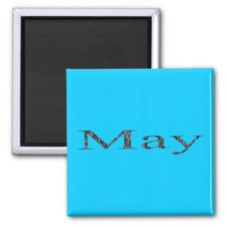 Months of the Year - May Square Magnet