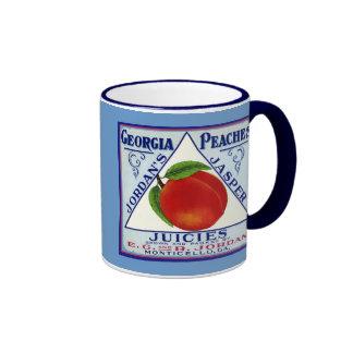 Monticello Georgia Peaches Coffee Mugs