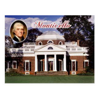 Monticello, Jefferson's Home, Virginia Postcard
