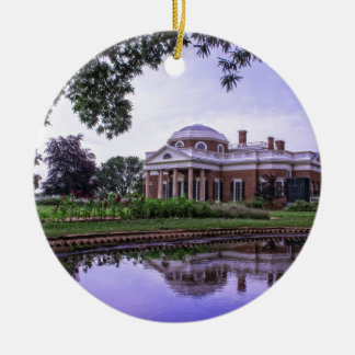 Monticello Reflection Ceramic Ornament