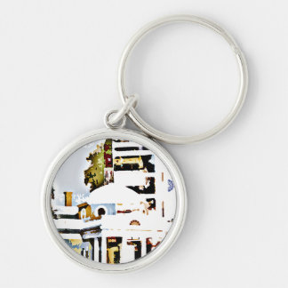 Monticello - Thomas Jefferson's Home in Virginia Silver-Colored Round Key Ring