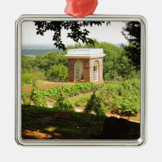Monticello View Metal Ornament