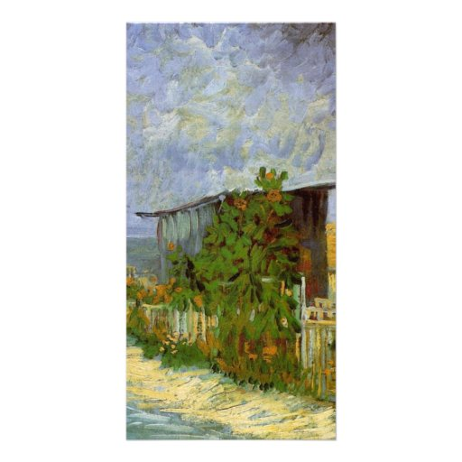 Montmartre Path with Sunflowers by van Gogh Photo Cards