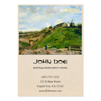 Montmartre Quarry Windmills Vincent Van Gogh Pack Of Chubby Business Cards
