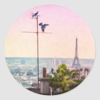 Montmartre Views - Paris Eiffel Tower Sticker