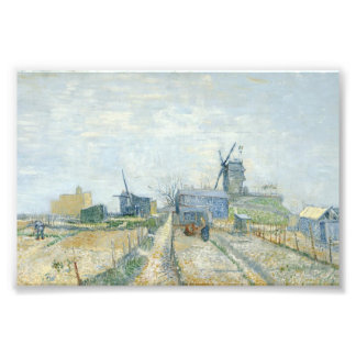 Montmartre: windmills and allotments photo print
