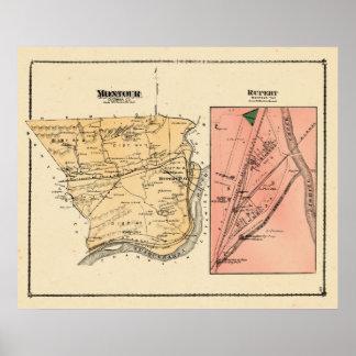 Montour Twp Rupert 1876 Beers Atlas Poster