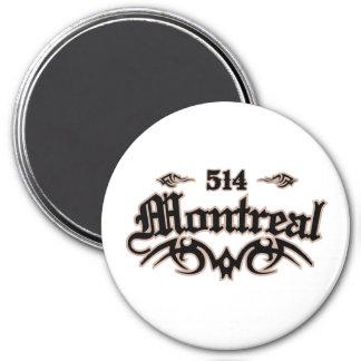 Montreal 514 7.5 cm round magnet