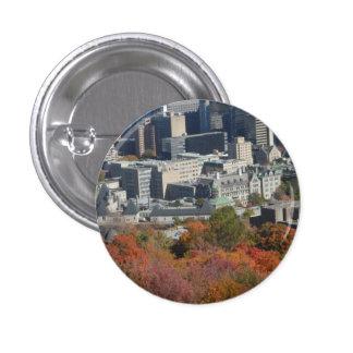 Montreal Autumn Mountain View Button