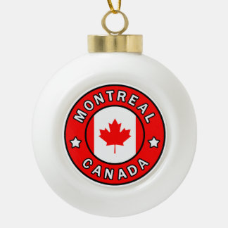 Montreal Canada Ceramic Ball Christmas Ornament