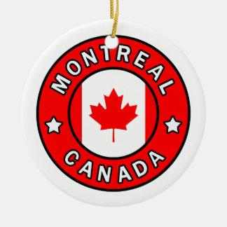 Montreal Canada Ceramic Ornament