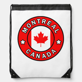 Montreal Canada Drawstring Bag