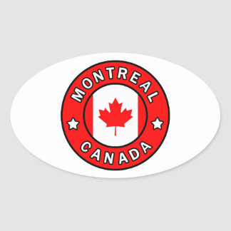 Montreal Canada Oval Sticker